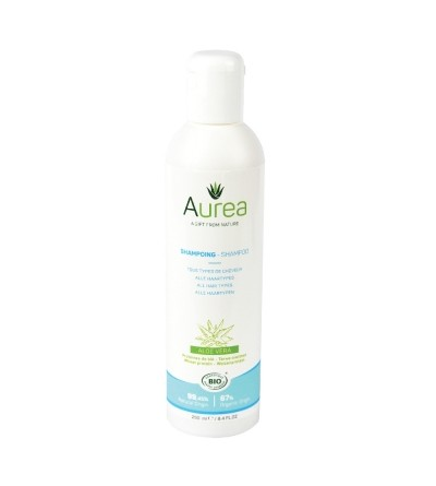 Aurea ekologiškas drėkinantis plaukų šampūnas ALOE VERA 250 ml;