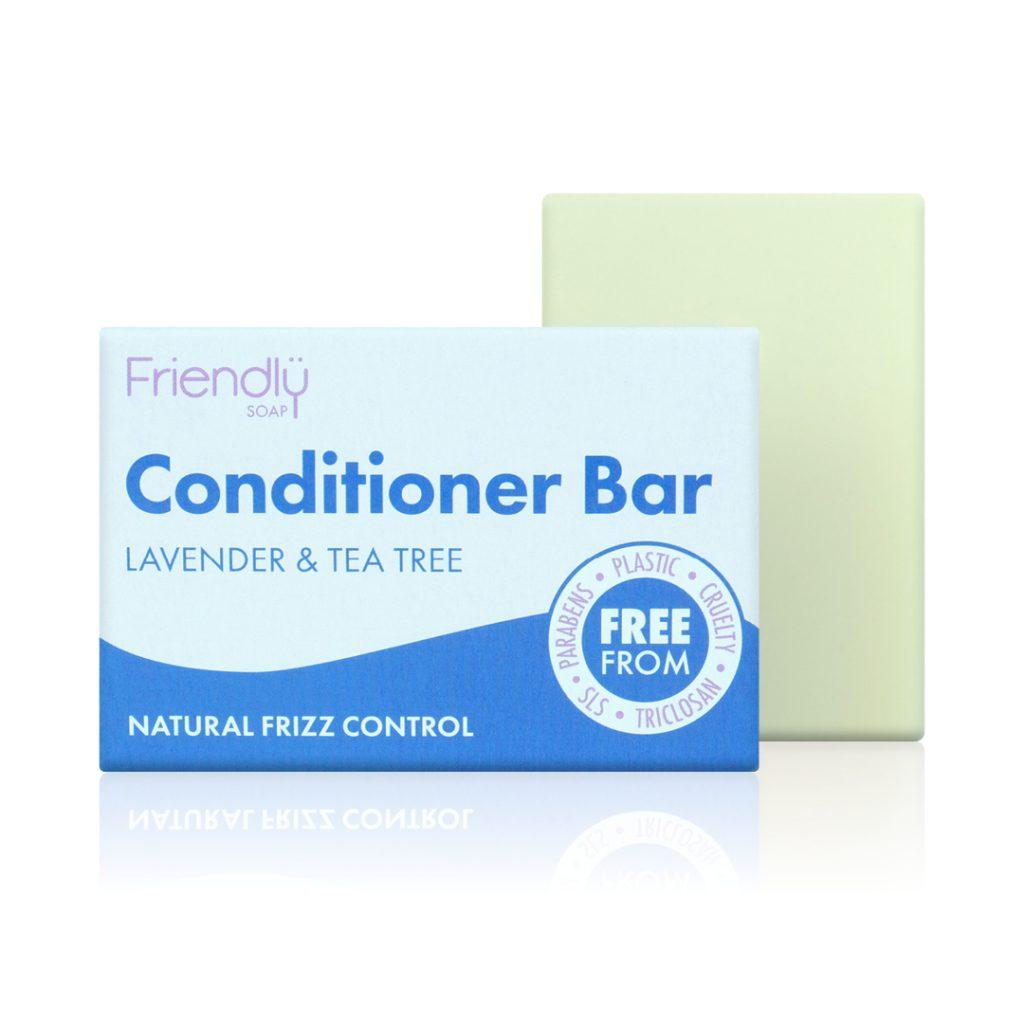 FRIENDLY SOAP natūralus, rankų darbo plaukų muilas kondicionierius LEVANDA IR ARBATMEDIS 95 ger pH7