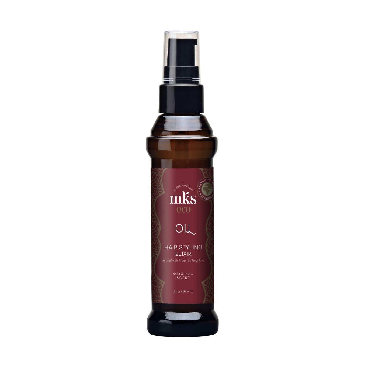 MKS ECO (Marrakesh) Original plaukų aliejus naujoje, aplinkai draugiškoje pakuotėje 60 ml;