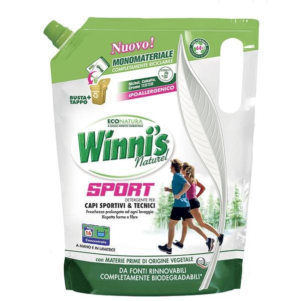 Winnis ekologiškas skalbiklis sporto aprangai 800ml;