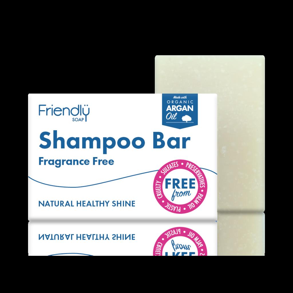 FRIENDLY SOAP natūralus, rankų darbo plaukų muilas šampūnas BEKVAPIS 95gr pH 8-9