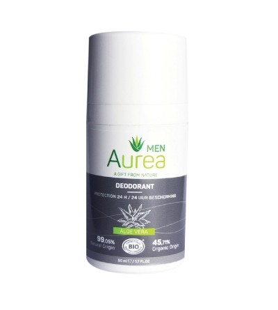 Aurea ekologiškas rutulinis dezodorantas ALOE VERA vyrams 50 ml;