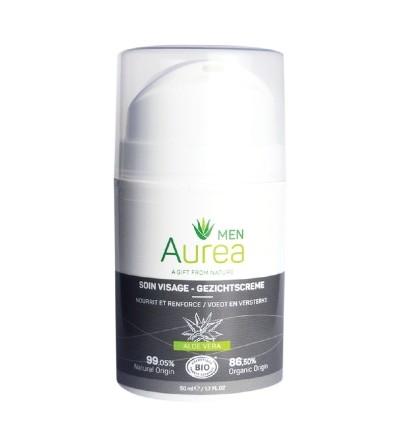 Aurea natūralus vyriškas veido kremas ALOE VERA 50 ml;
