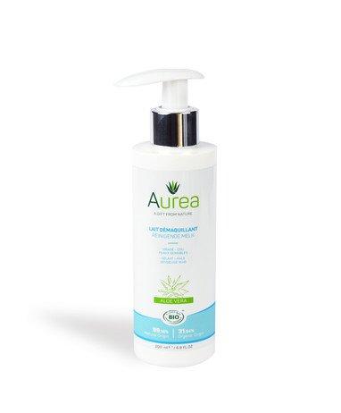 Aurea ekologiškas veido pienelis makiažui nuvalyti 200 ml;