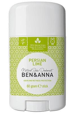 Ben&Anna natūralūs dezodorantai įprastoje pakuotėje (kvapų pasirinkimas) 60 gr